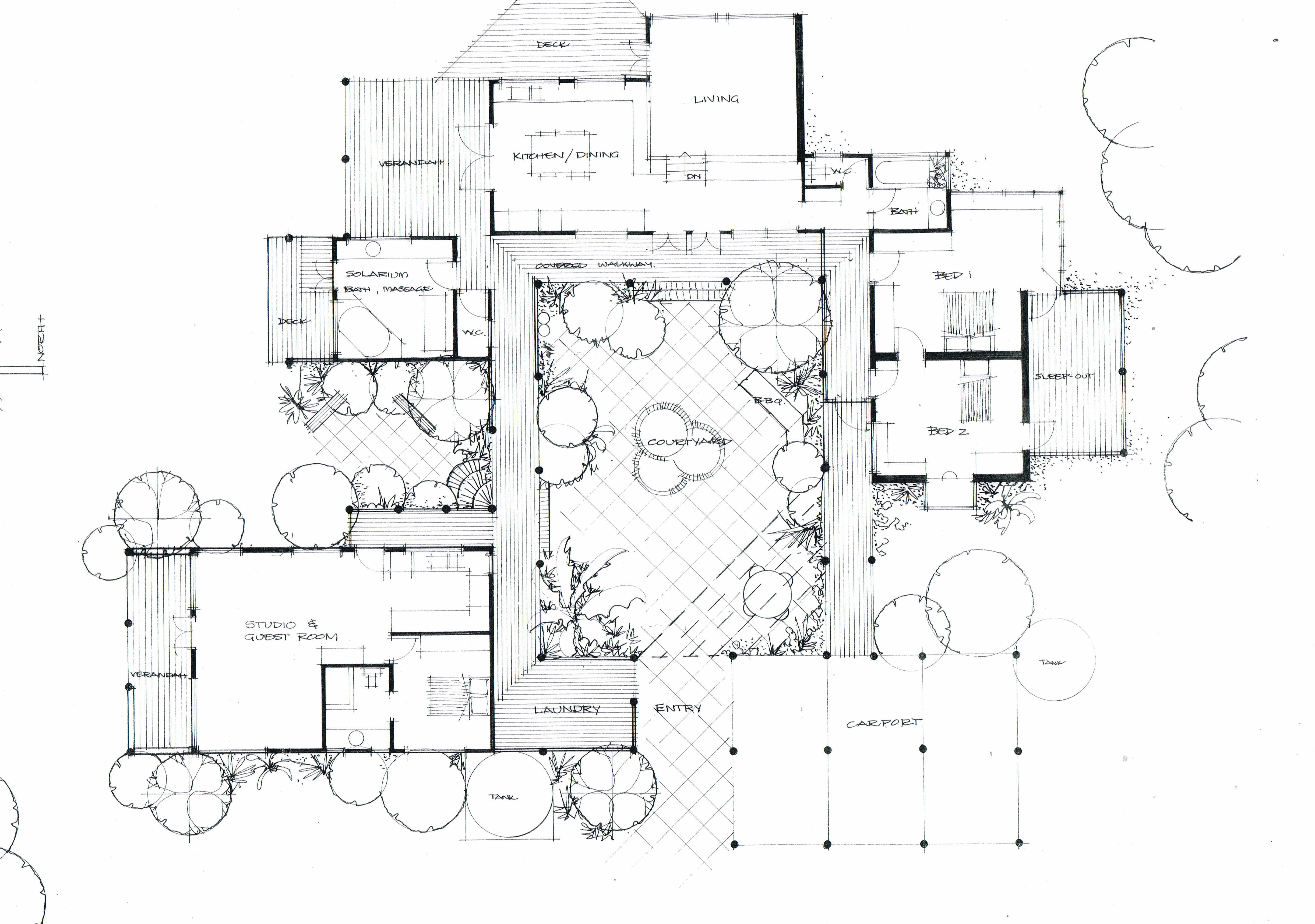 The courtyard house heather fraser building designer for House construction plan